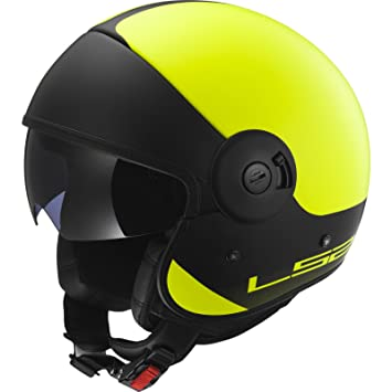 LS2 305974253S OF597 Casco Cabrio Via, Color Matt Hi/Vis Amarillo/Negro,