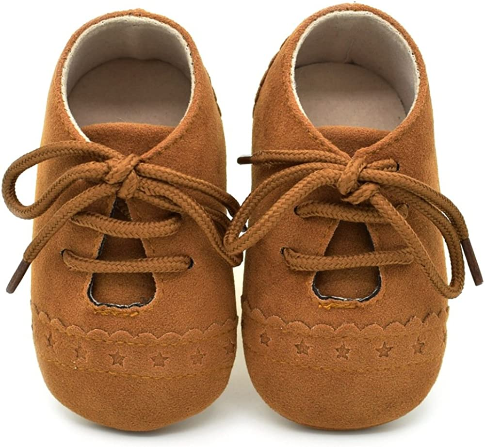 Dukars Baby Boys Girls Soft Sole Moccasins Lace-up Infant Toddler Shoes Sneaker: Clothing