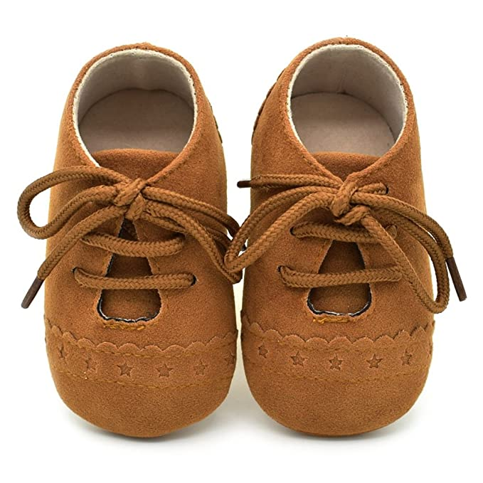 70d35c71ddfa0 Dukars Baby Boys Girls Soft Sole Moccasins Lace-up Infant Toddler Shoes  Sneaker