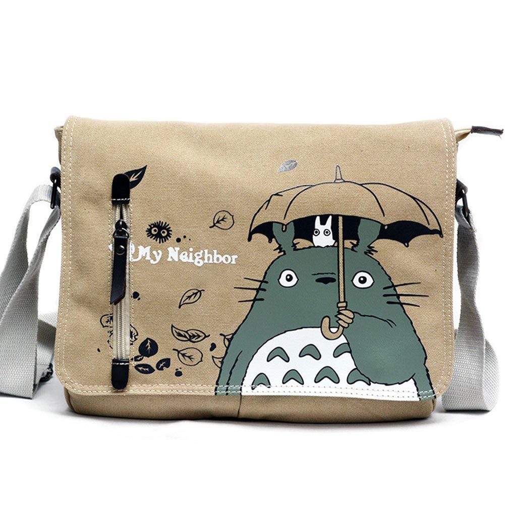 Skisneostype Totoro Sac à bandoulière Sac à dos Dessin animé épaule Sacs Bandoulière en toile Sling Sac Cosplay Sac pour filles garçons H01