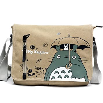 cd0cde21e4 Skisneostype Totoro Sac à bandoulière Sac à dos Dessin animé épaule Sacs  Bandoulière en toile Sling