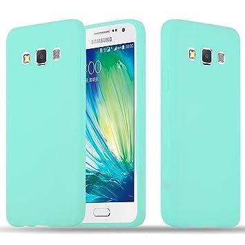 Cadorabo Funda para Samsung Galaxy A3 2015 en Candy Azul – Cubierta Proteccíon de Silicona TPU Delgada e Flexible con Antichoque – Gel Case Cover ...