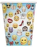 Lot de 8 gobelets en carton Motif Emoji 250ml