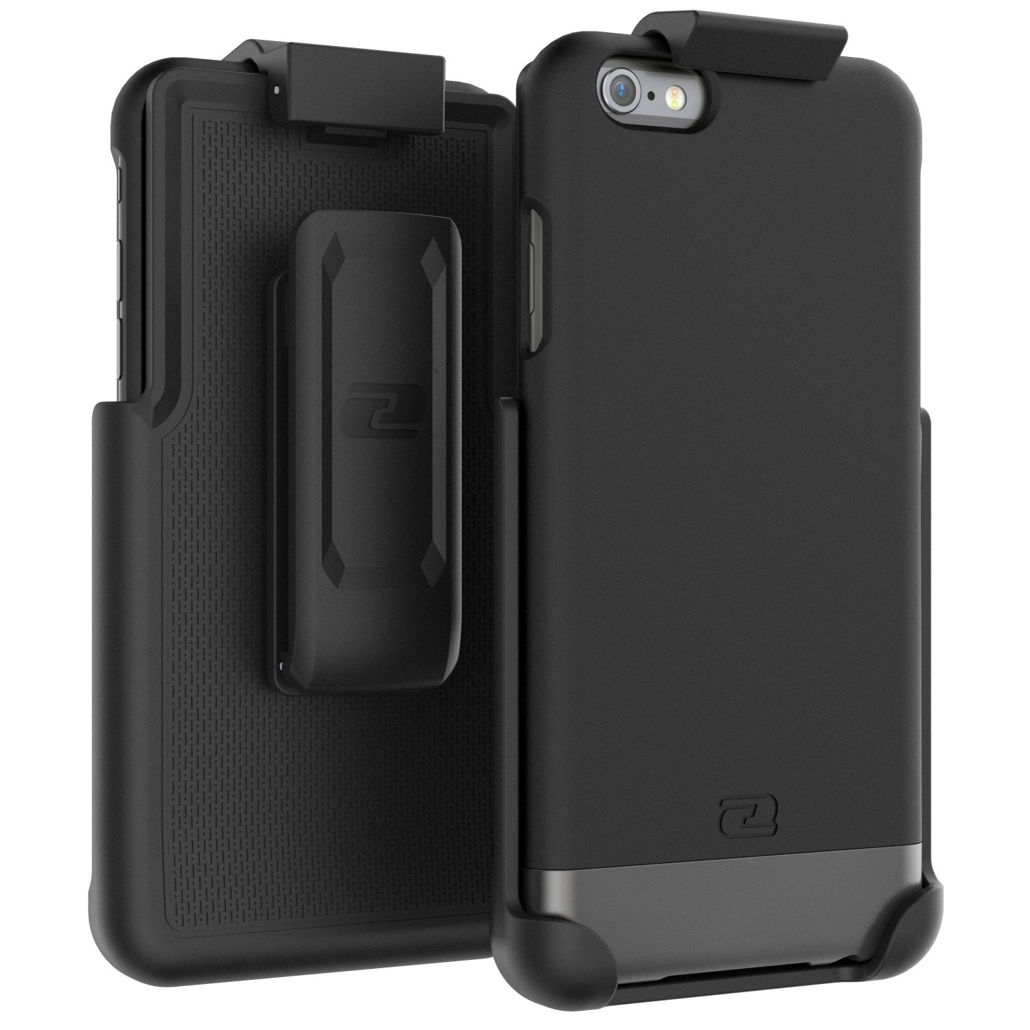 Encased Belt Case iPhone 6/6S, [SlimShield Series] Protective Grip Case with Holster Clip for Apple iPhone 6 (Smooth Black) by Encased (Image #2)