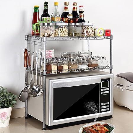 ZWS@ Cocina Horno de microondas Estantería de bastidor ...