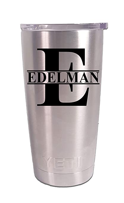 5d16ecd4d4b Personalized YETI 20 oz.Tumbler Split Monogram CUSTOM Laser Engraved
