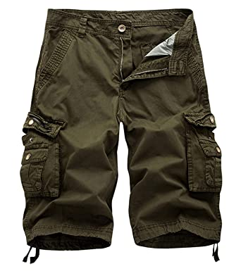 b6d6d696a8 Hakjay Army Green Big and Tall Mens Cargo Shorts Size 28