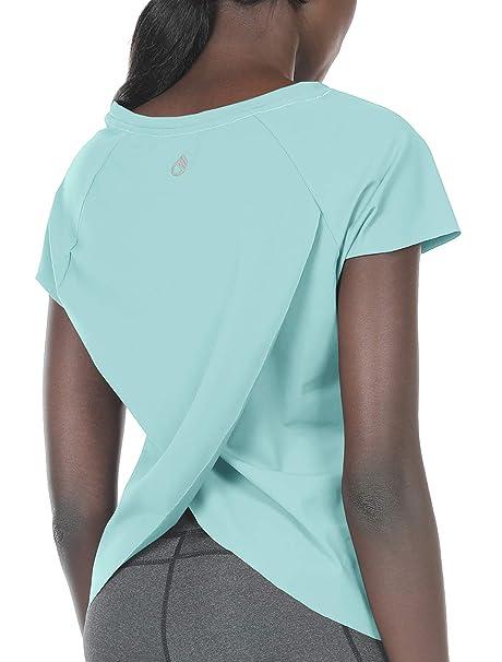 Amazon.com: icyzone Camisas de entrenamiento para mujer ...