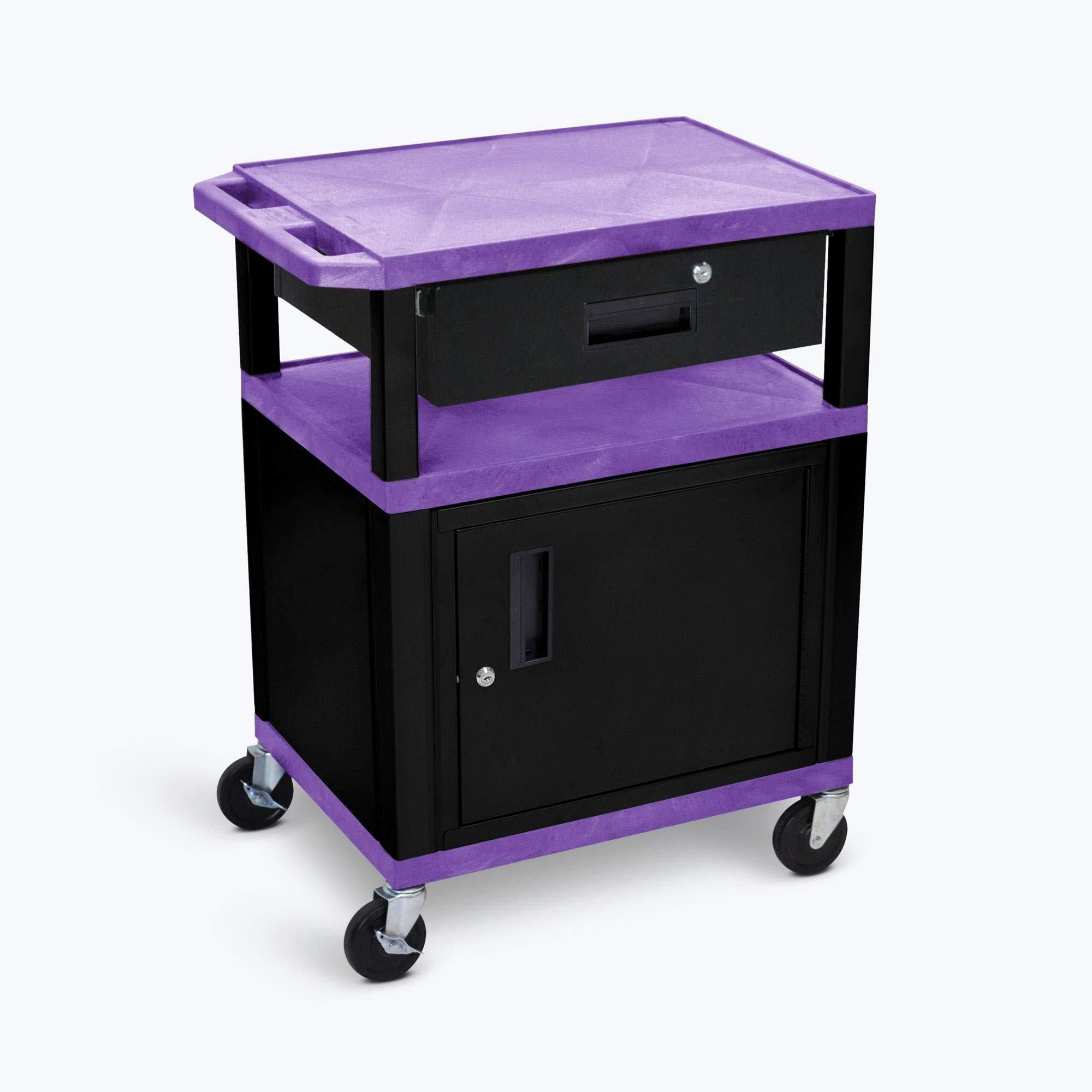 Luxor 4.75''H Drawer for WT34PC2E-B 34''H AV Cart - Black