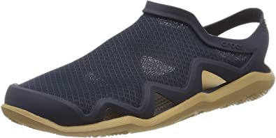 Crocs SWIFTWATER MESH Ladies Womens Summer Casual Sports Sandals Navy Blue