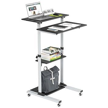 1home Compact Mobile Stand Up Computer Workstation Altura Ajustable Carro de presentación: Amazon.es: Electrónica