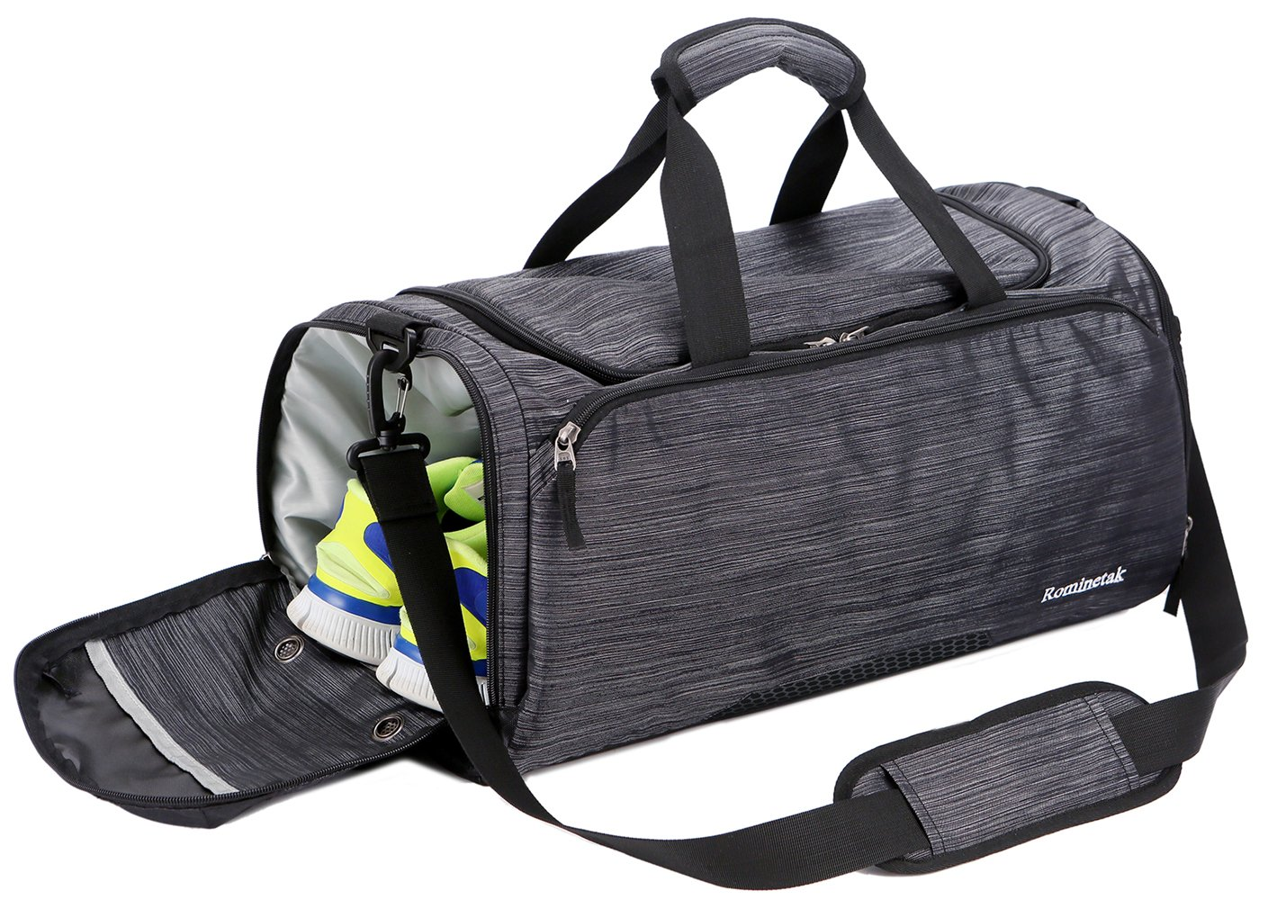 Rominetak Gym Bag Sports Travel Duffel Bag for Men and Women with Shoes  Compartment (One Size 58b7f0e7180eb
