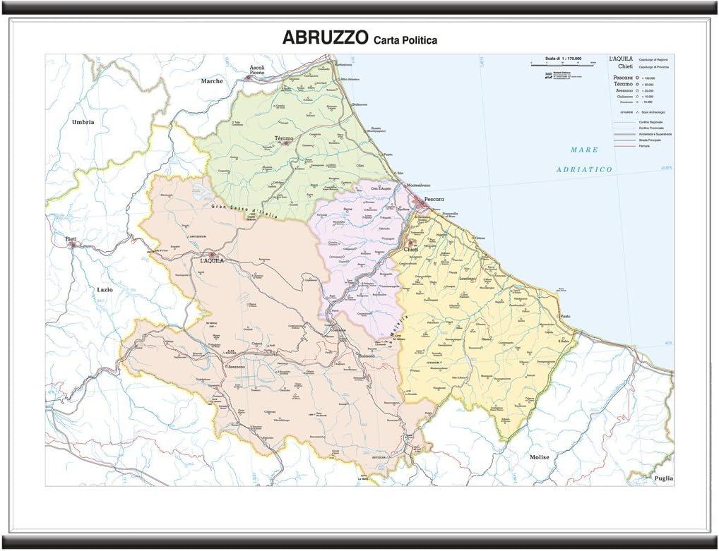 Cartina Geografica Fisica Puglia.Geografia Carta Geografica Murale Regionale Abruzzo Molise 100x140 Bifacciale Fisica E Politica Cancelleria E Prodotti Per Ufficio Ntntech Com Vn