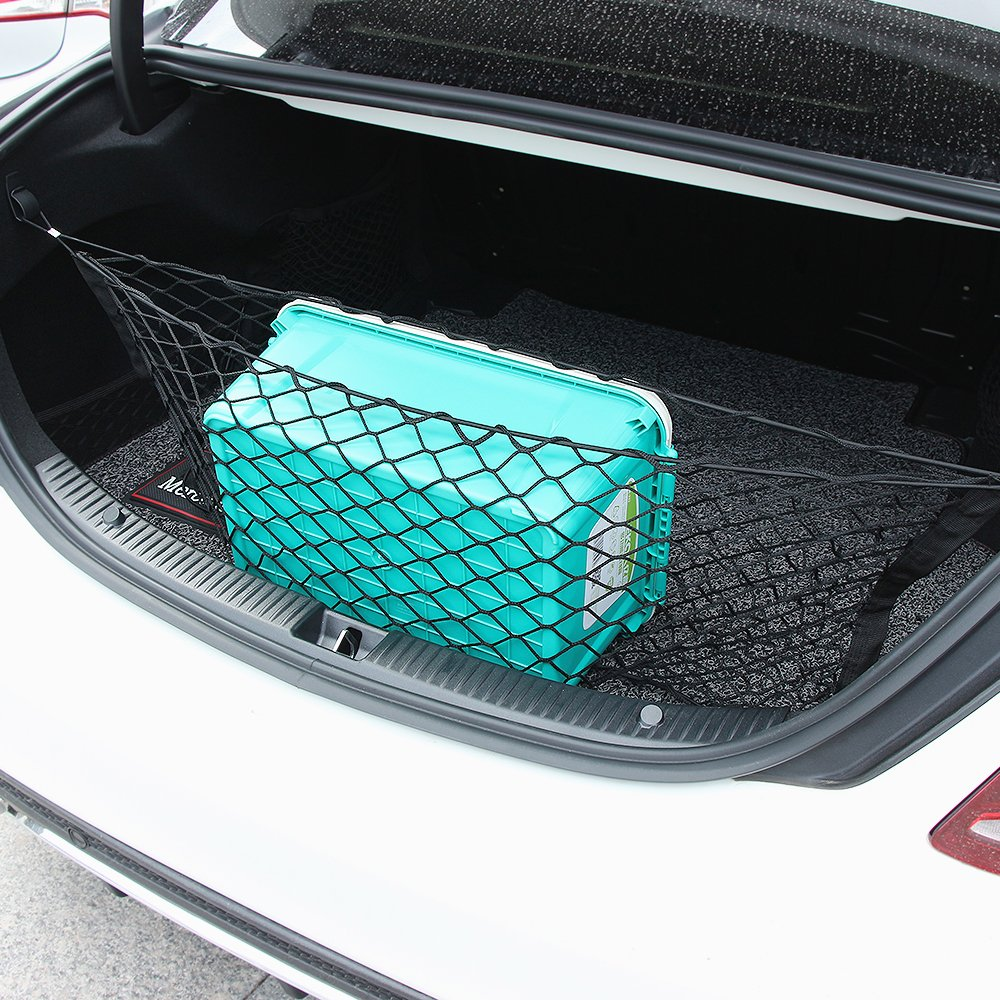Thie2e Cargo Net Car Rear Envelope Trunk Storage Net Organizer Fit for Mazda 3 Mazda 6 Mazda CX-5 CX-9 2016 2017 2018 2019