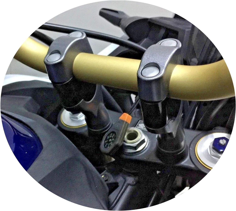 Bay4Global GY-VFR1200X.CR.28S.30 elevadores de manillar de motocicleta para Honda VFR1200X Crosstourer aumento 30 mm m/ás negro