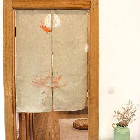Lotus Door Curtain Cotton Linen - MeMoreCool Simple Design Tidy Feelings Kitchen Porch Decor 33 X & Amazon.com: Lotus Door Curtain Cotton Linen - MeMoreCool Simple ... pezcame.com