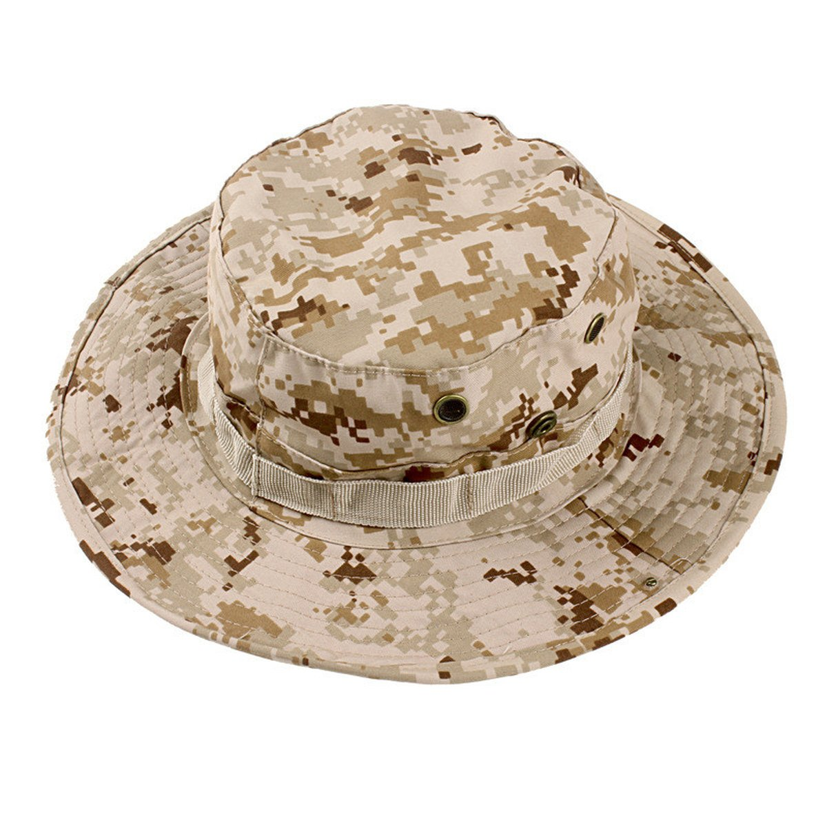 Summer Bucket Hats Camouflage Boonie Hat Fishing Hiking Camping Sun Hat Visor