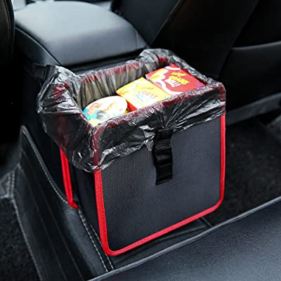 YOANKU Hanging Car Trash Bag Can Premium Waterproof Litter Garbage Bag Organizer 1.85 Gallon Capacity: Automotive
