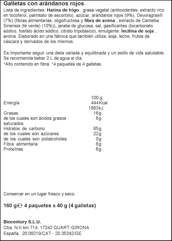 Bicentury - Galletas devoragras con frutos rojos - 40 g x 4 unidades: Amazon.es: Alimentación y bebidas