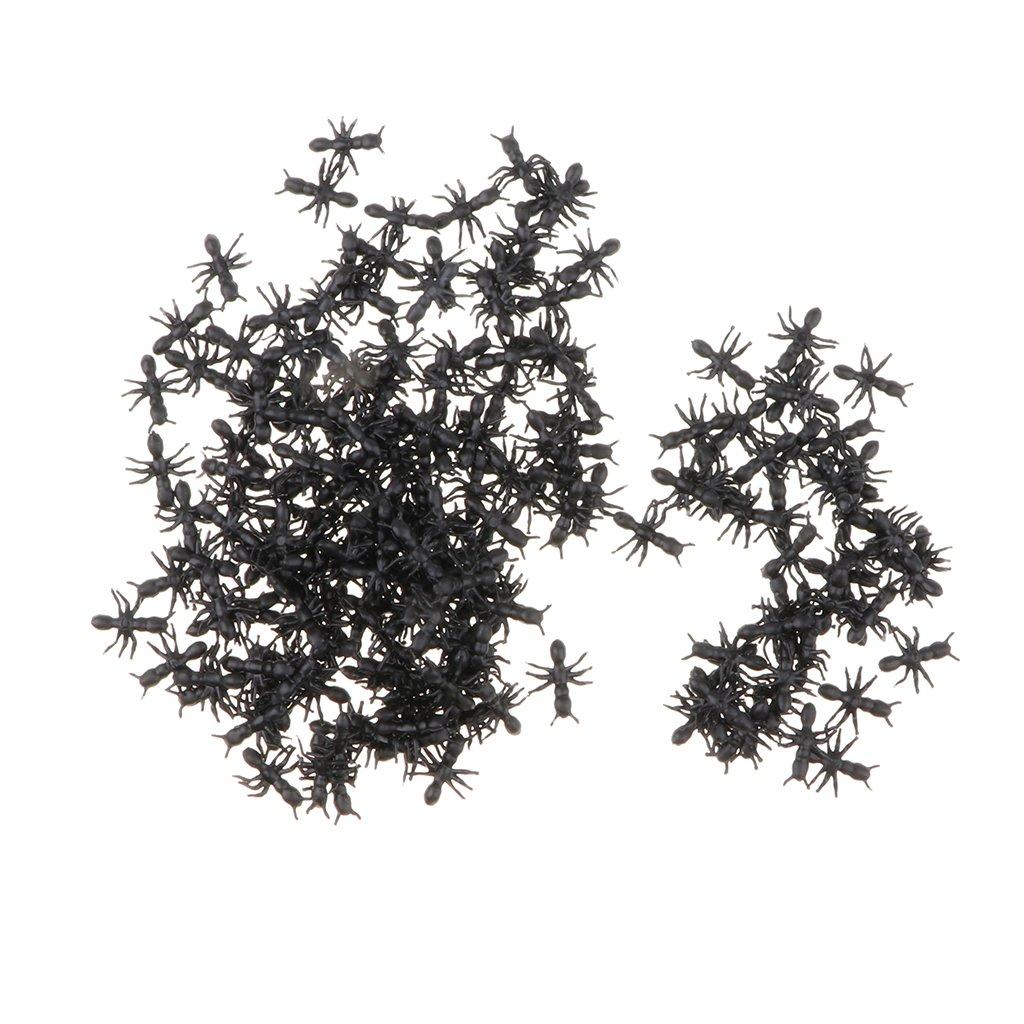 B Blesiya 200pcs Juguete de Simulación de Animales Plásticas Figura de Hormigas Insectos Colecciones Juego de Exhibición de Vitrina - Mezcla