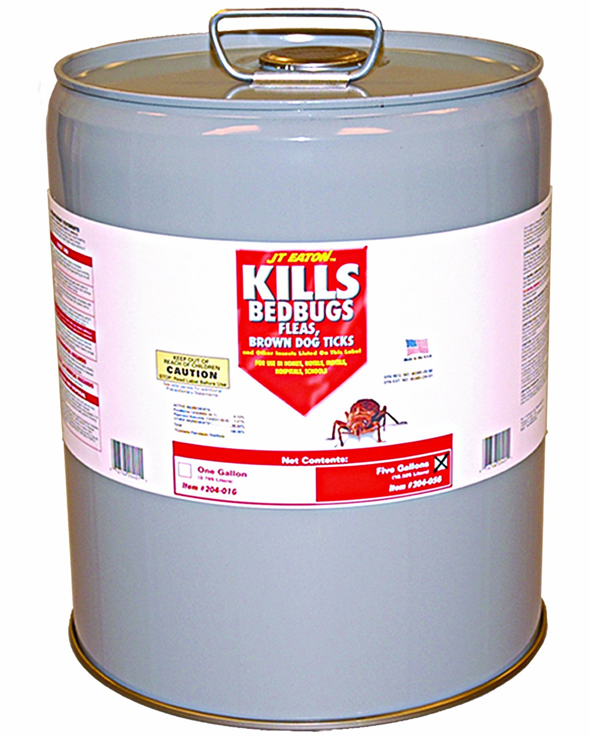 JT Eaton 204-O5G Kills Bedbugs Oil Based Kills Bedbug Spray with Pour Spout, 5 Gallon Pail