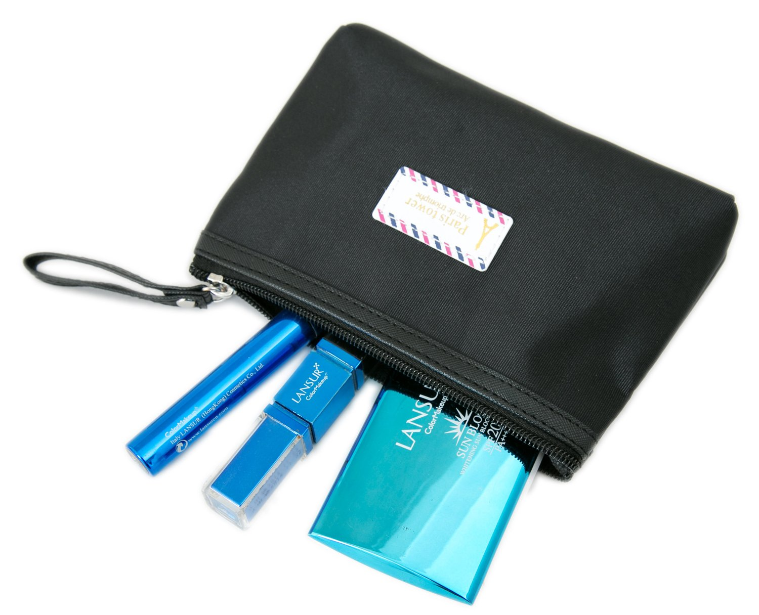 f6ffc84ce979 Amazon.com   Zhoma 3 Piece Waterproof Cosmetic Bag Set - Makeup Bags And Travel  Case - Black   Beauty