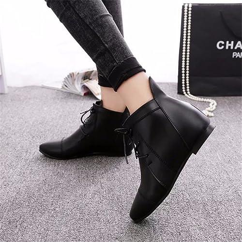 En invierno lace y en invierno, zapatos de mujer lace invierno up, Martin botas ad6103