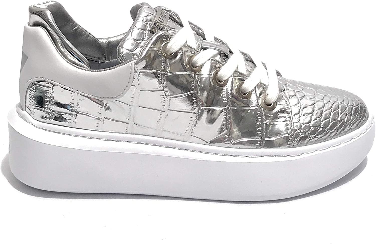 GUESS Donna Sneakers Braylin Active Lady Argento Mod.
