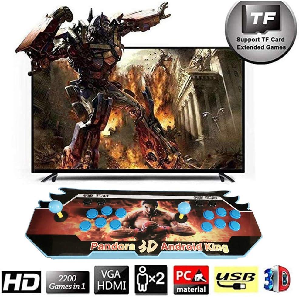Pandoras Box Máquina de Vídeo Clásica 720P Full HD Real Home Arcade Video Game Console 4000 Juegos Retro Consola Arcade Video Gamepad Botones Personalizados Lista Inteligente, QE04: Amazon.es: Deportes y aire libre