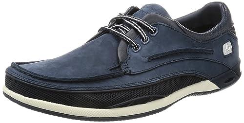 Clarks - Zapatillas para hombre, Azul, 41.5