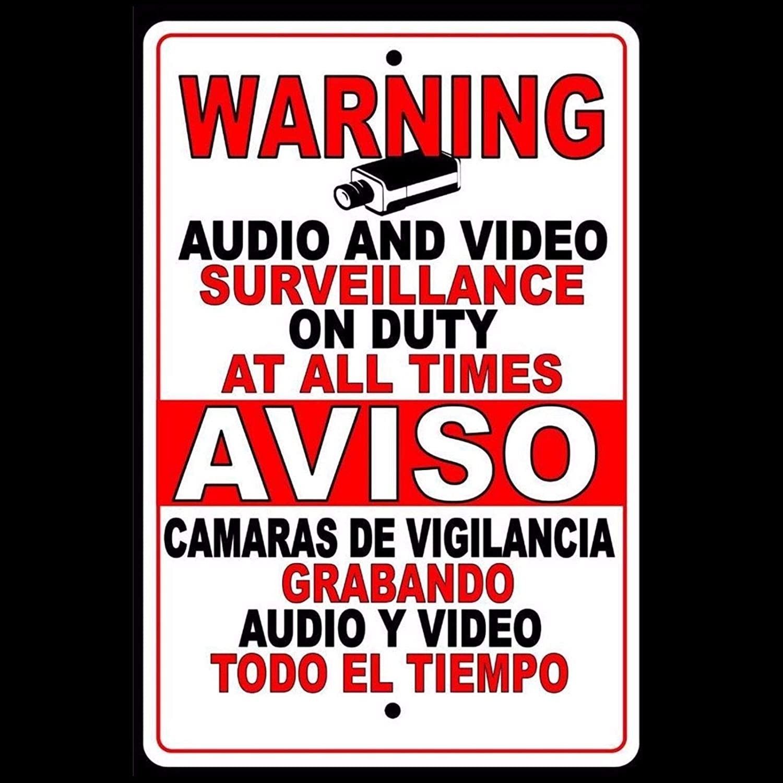 Dozili Señal de Advertencia de Seguridad para cámara de ...