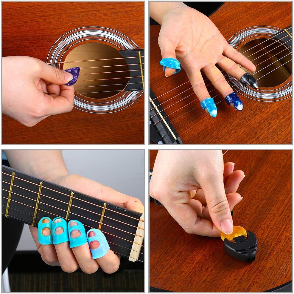 Auihiay - Juego de 58 piezas de accesorios para guitarra acústica ...