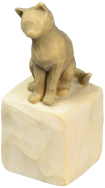 Willow Tree hand-painted sculpted figure, Love my Cat (dark) DEMDACO 27684