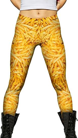 Burger Fry Sunrise Yizzam Ladies Womens Leggings
