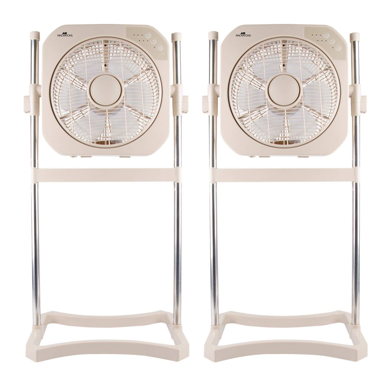 Air Innovations FAN08 12'' Swirl Cool Box Fan with Cord Wrap (Beige) - 2 Pack by Air Innovations