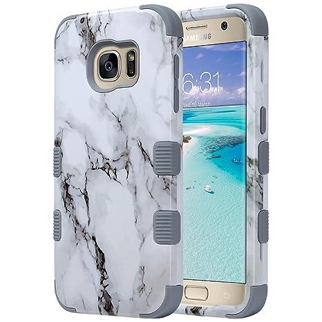 ULAK Galaxy S7 Caso, S7 Funda Carcasa de Lujo híbrido de 3 Capas de Silicona Shell Resistente a Prueba de choques Cubierta de la Caja para la Galaxy ...