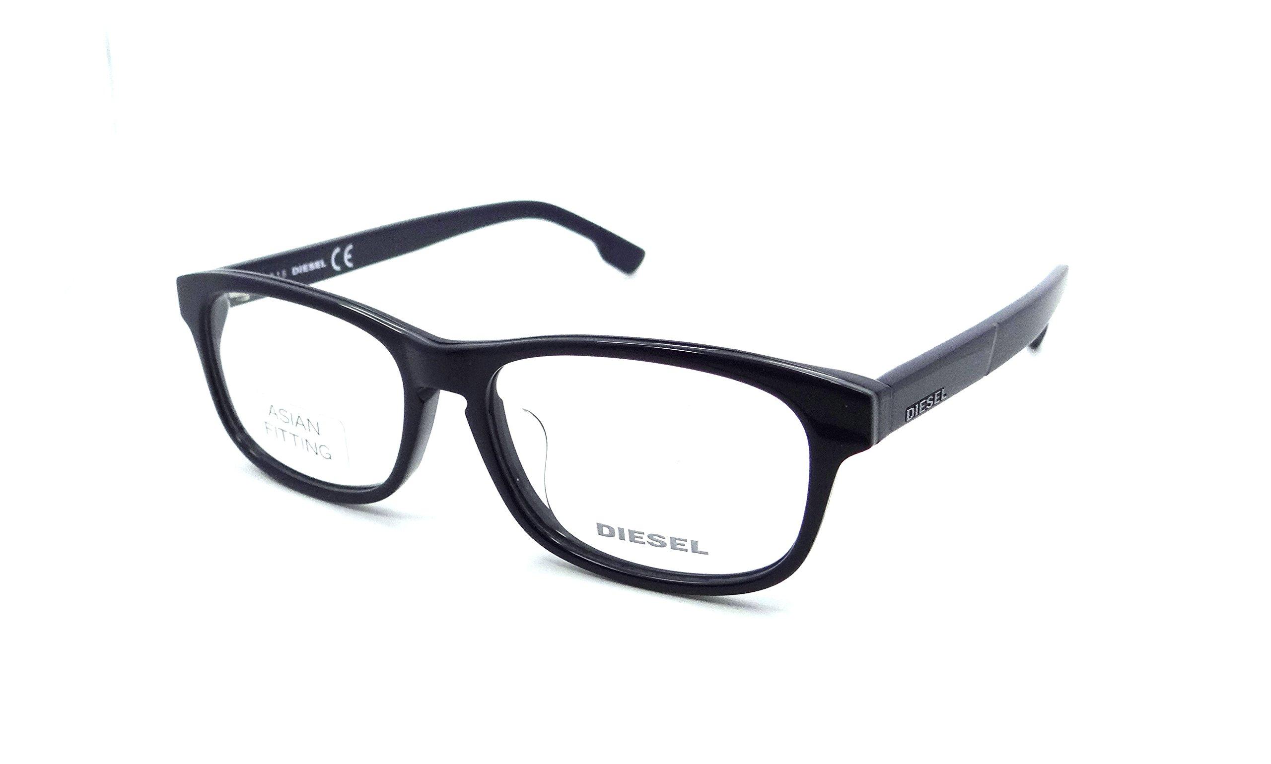 Diesel Rx Eyeglasses Frames DL5197-F 090 53-15-145 Blue / Grey / Blue Asian Fit