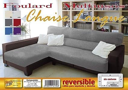 MONSERRAT Cubre Sofa Chaise Longue Reversible, Colcha para ...