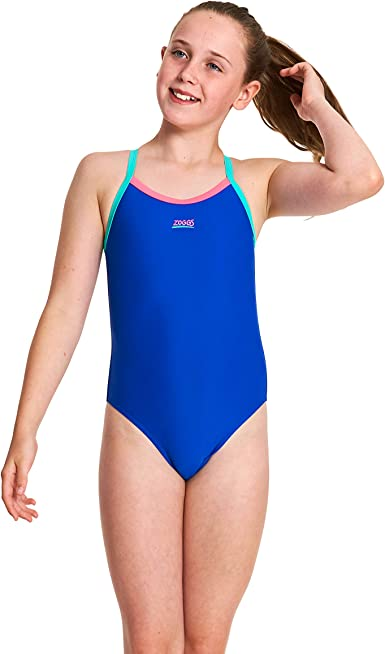 Zoggs Girls Swimming Swimsuit Hydrolife Paradise Kerrawa Strikeback