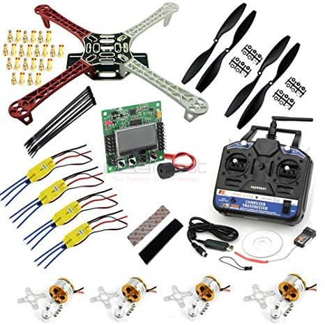 Veerobot F450 Quadcopter Kit - DIY Quadcopter - With Motors, Frame, Controller Radio & Remote Control at amazon