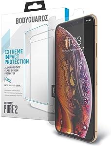 BodyGuardz - Pure Glass Screen Protector, Ultra-Thin Tempered Glass Screen Protector for iPhone Xs Max