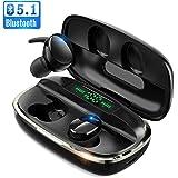 【次世代 最新Bluetooth5.1技術 瞬時接続】 Bluetooth イヤホン Hi-Fi高音質 蓋を開けたら接続 LEDデジタル残量表示 4000mAh充電ケース付 自動ペアリング 最大680時間待ち受け 完全ワイヤレス イヤホン 3Dステレオサウンド CVC8.0ノイズキャンセリング AAC対応 IPX7防水 両耳 左右分離型 ブルートゥース イヤホン 音量調整 マイク内蔵 ハンズフリー通話 技適認証済 iPhone/iPad/Android対応 (S8)