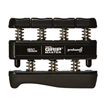 GRIP MASTER Gripmaster 14003-BLK Hand Exerciser Black, Heavy Tension (9-Pounds per Finger)