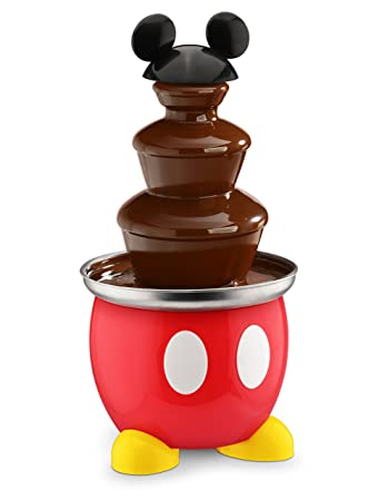 Disney Dcm 50 Mickey Mouse Chocolate Fountain Red
