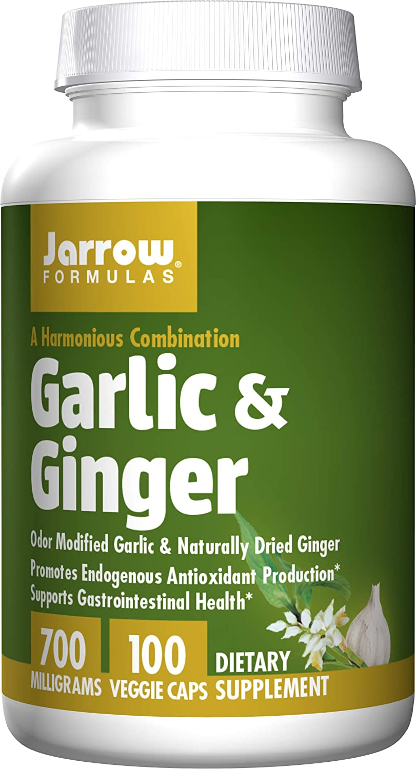 Jarrow Formulas - Garlic + Ginger, 700 mg, 100 capsules: Health & Personal Care