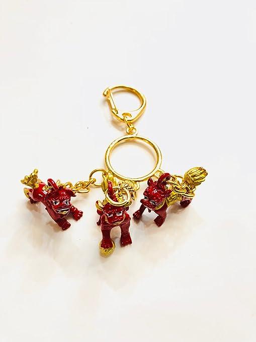 Amazon.com: 2018 Feng Shui tres rojo Lions Remedio para tres ...