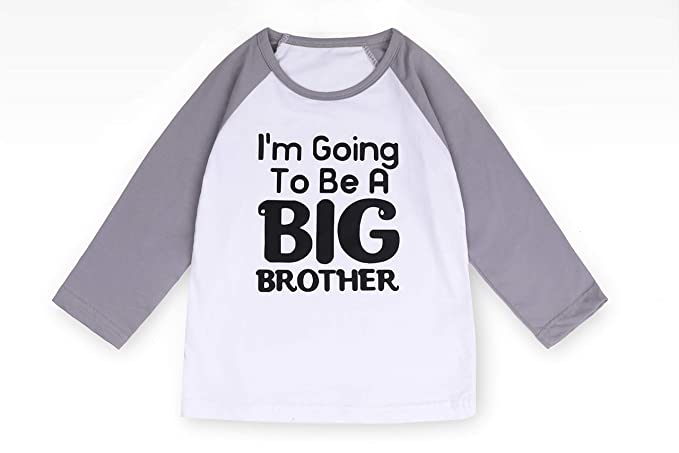 37f9acf0bea Image Unavailable. Image not available for. Color  Big Brother Shirts  Toddler Baby Boys Kids Long Sleeve Raglan ...