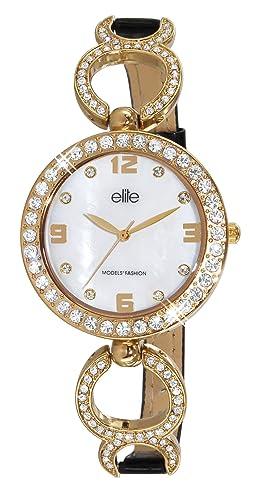 Elite Ladies Watch E5291 2 101 with Alloy With Stones Case