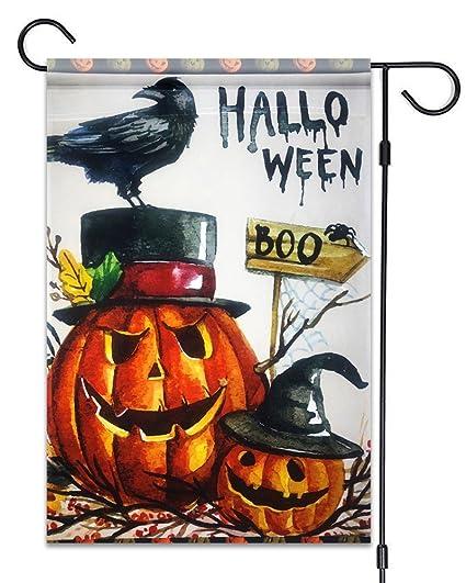51groups Halloween Garden Flag 12u0027X18 | Happy Halloween Designer Flag |  Trick Or Treat