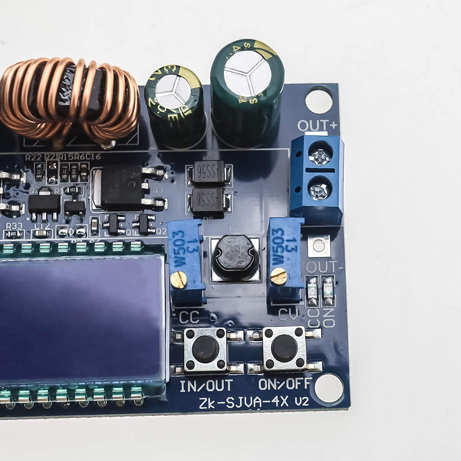 Buck Boost Board Converter Module Adjustable Constant Current Voltage DC 5.5-30V with LCD Display 3A 35W Power Supply Module